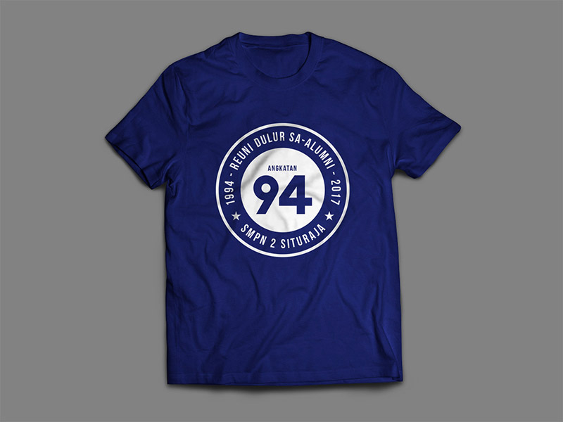 Desain T-Shirt Reuni Sekolah