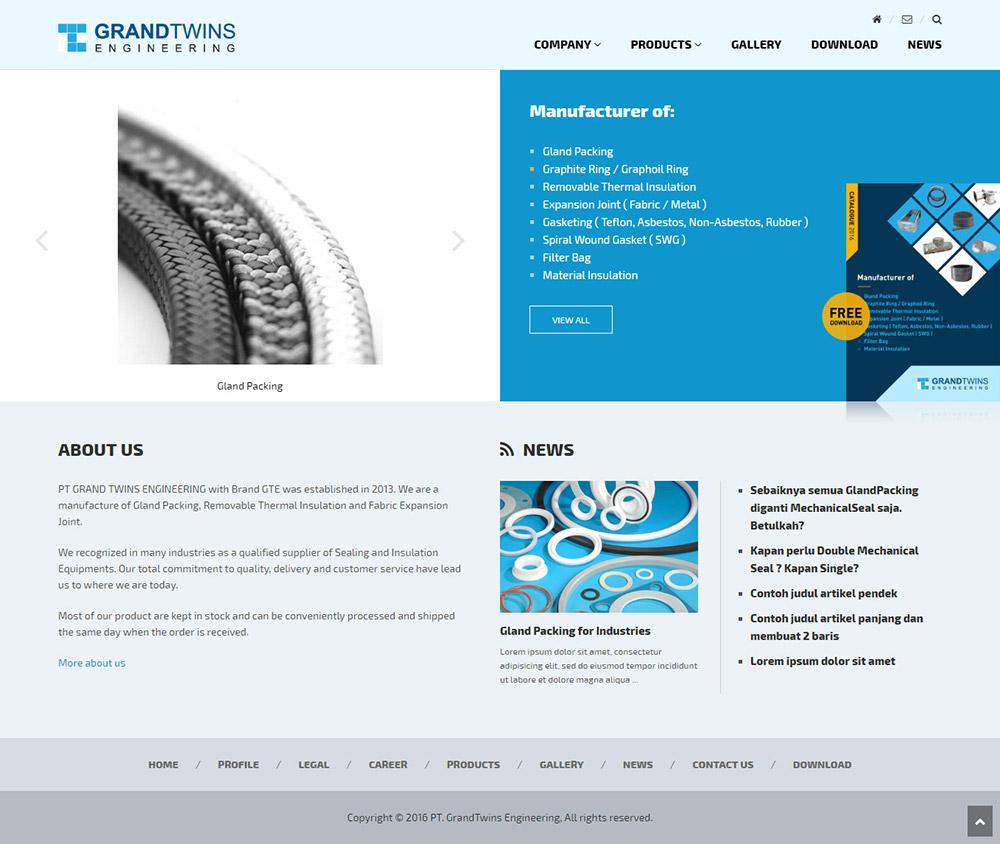 Desain Website Company profile