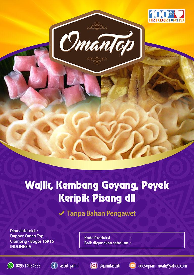 Desain Label Makanan Tradisional